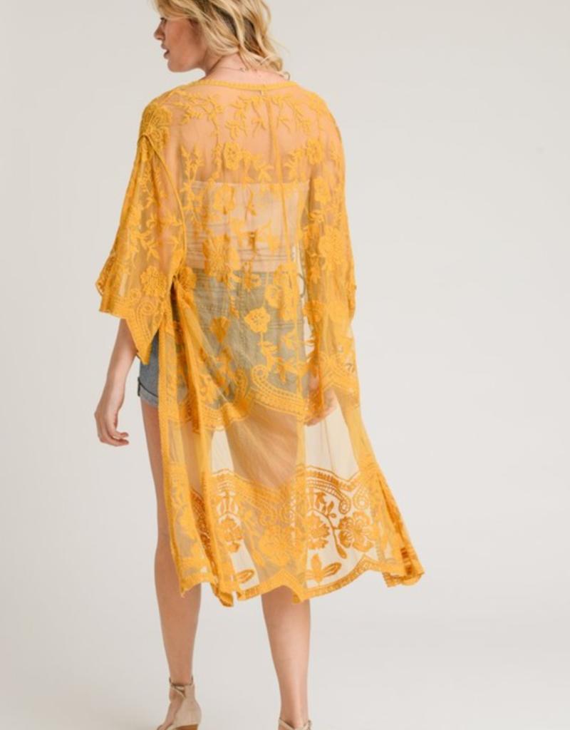 One Size Curvy girl lace Kimono