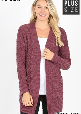 Red Door Popcorn cardigan with pockets