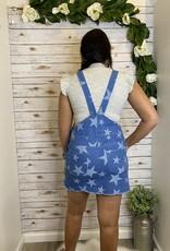 Red Door Denim star skirt overalls