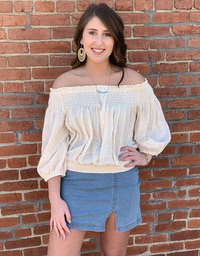 Red Door Light demin jean skirt with slit