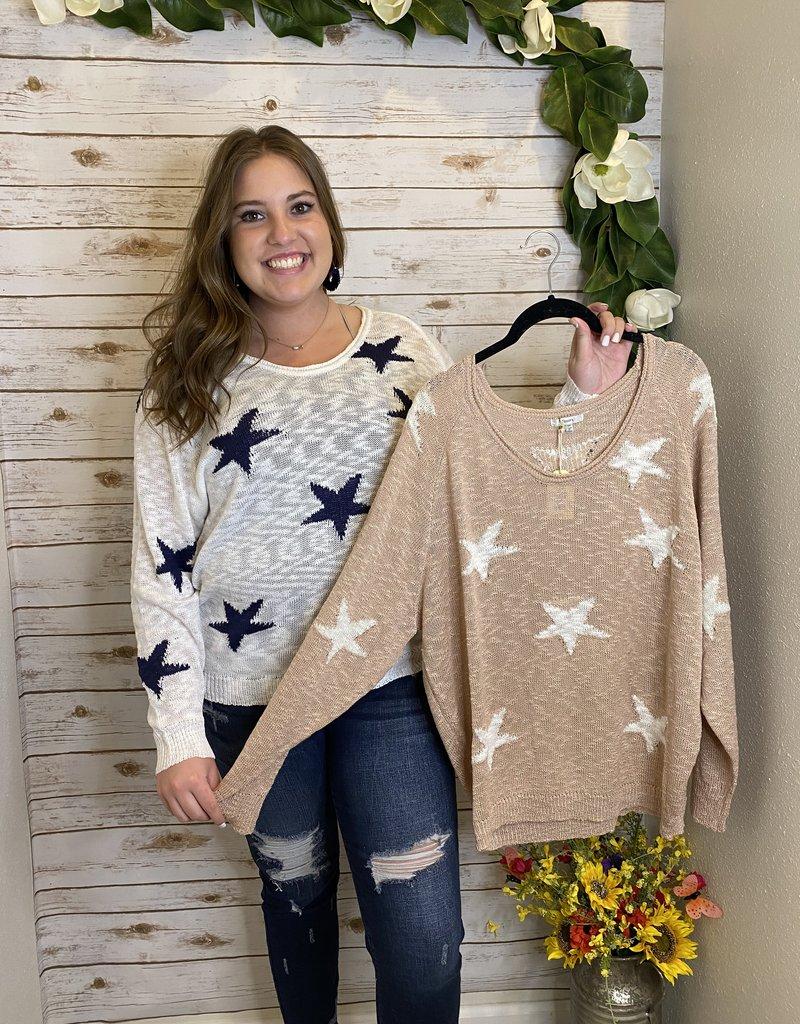 Red Door Star knit sweater