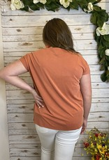 Red Door Soft T with side knot