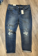 Judy Blue Eloise's destroyed cuffed jeans-Judy Blue