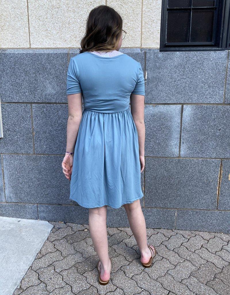 Red Door Soft short sleeve surplice dress