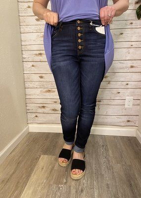 Kancan Mariah's high rise non distressed jeans- Kancan