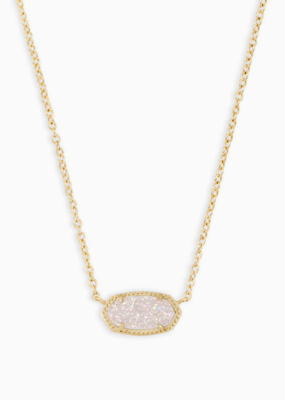 Kendra Scott Elisa Gold Necklace Drusy Stones
