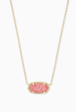 Kendra Scott Elisa Gold Necklace Drusy Stones
