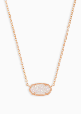 Kendra Scott Elisa Rose Gold Necklace in different Stones