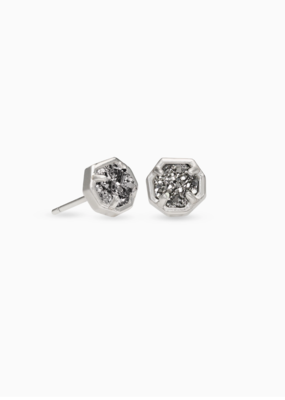 Kendra Scott Nola Stud earrings Silver Silver Drusy