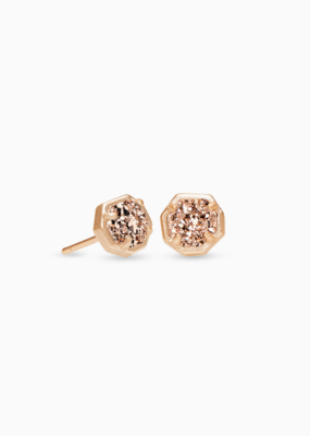 Kendra Scott Nola Stud earrings Rose Gold Rose Gold Drusy