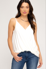 Red Door White surplice knit cami