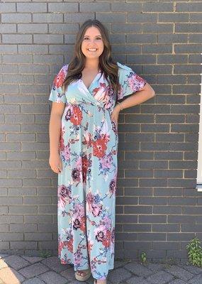 Red Door Light blue floral maxi dress