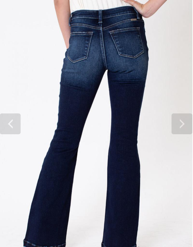 Kancan Fancy's distressed flare jean