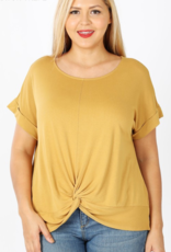 Red Door Crepe knotted top