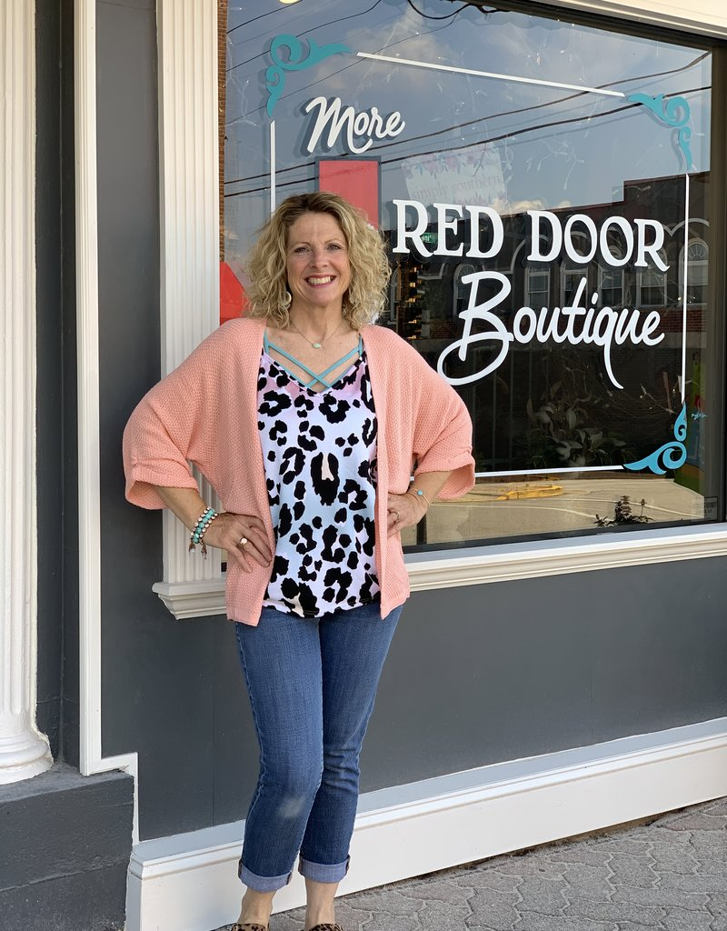 Red Door Light weight kimono cardigan