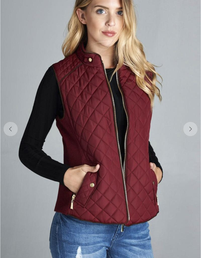 Red Door Quilted vest