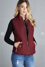 Red Door Quilted Vests-Plus