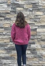 Red Door Pink sweater w/ multicolor dots