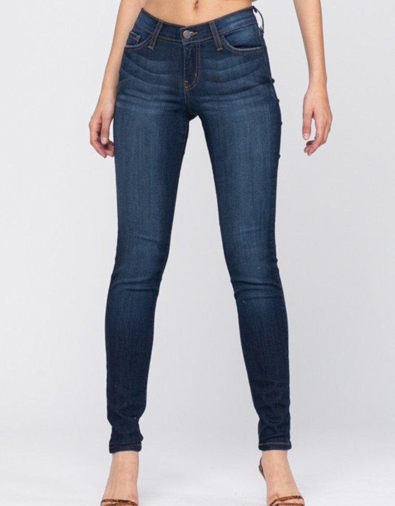 Judy Blue Elsie's non-distressed dark skinny jeans