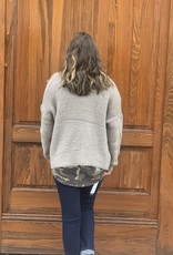 Red Door Gray cable knit cardigan