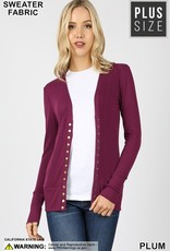 Red Door Long sleeve snap cardigan-Plus