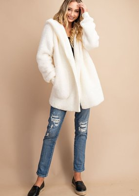 Red Door Oversized faux fur jacket