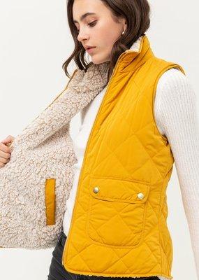 Red Door Reversible diamond puffer vest