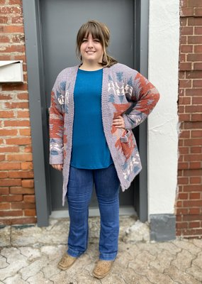Red Door Grey soft aztec cardigan