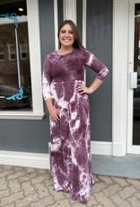 Red Door Tie dye maxi dress