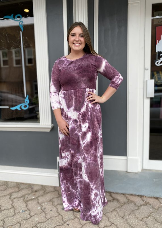 Red Door Tie dye maxi dress