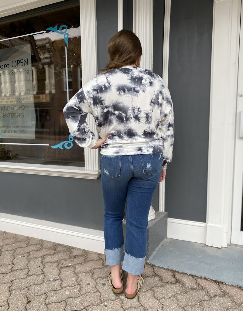 Judy Blue The Jess cuffed destroy straight jeans