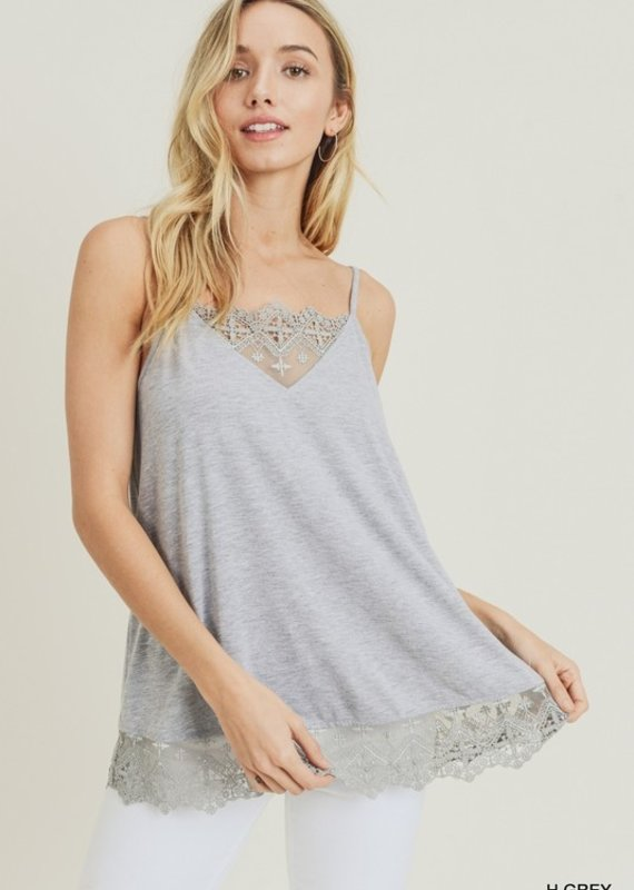 Red Door Gray lace detail cami