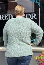 Red Door Popcorn v neck sweater