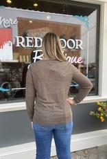 Red Door Brown light weight v-neck top