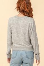 Red Door Heather Gray Sweater