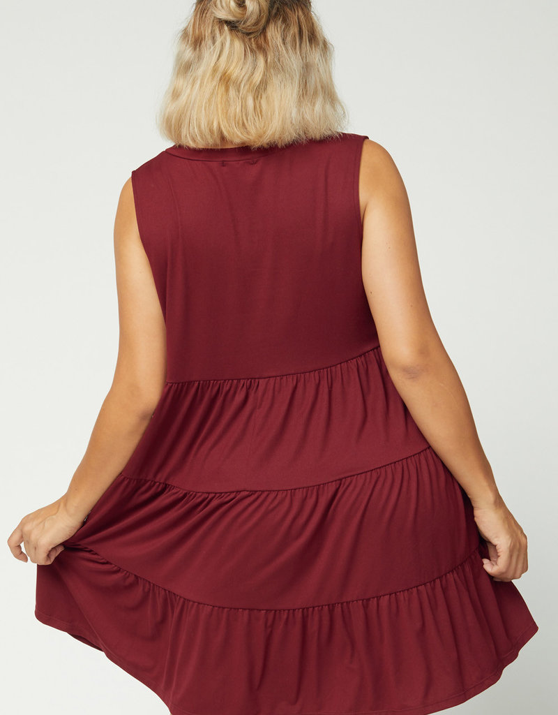 Red Door Tiered tank dress
