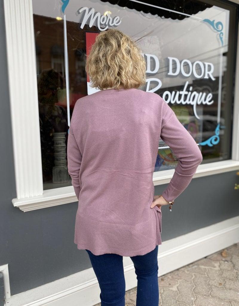 Red Door Lavender boat neck soft sweater