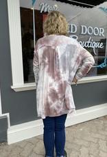 Red Door Charcoal mix tie dye cardigan
