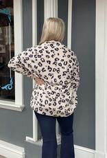 Red Door Soft blush leopard cardigan