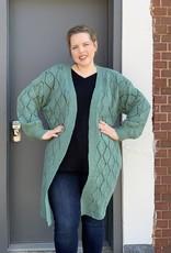 Red Door Sea foam crochet cardigan