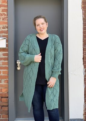 Red Door Sea foam crochet cardigan