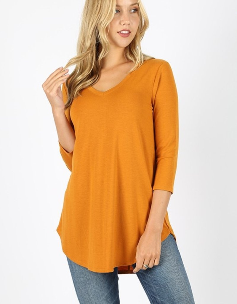 Red Door Three quarter sleeve v-neck top