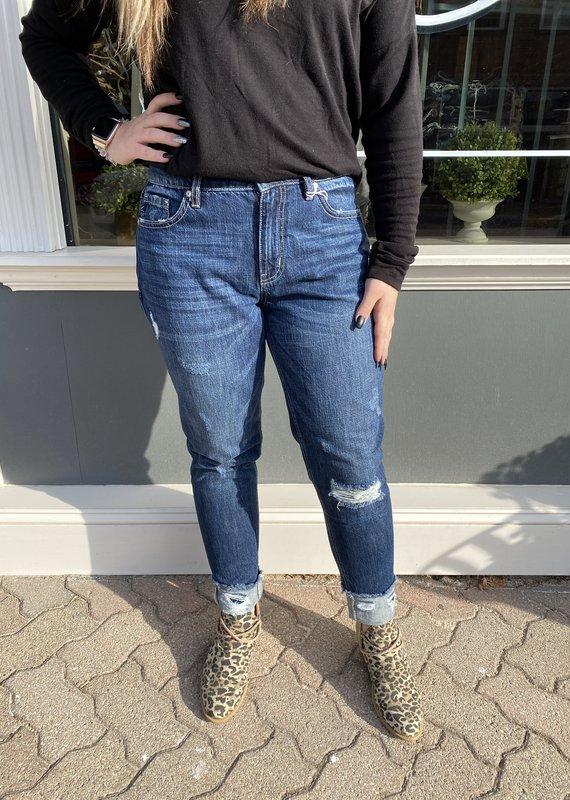 Kancan Reba's high rise boyfriend jeans