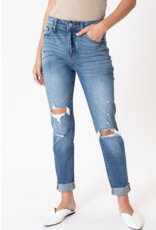 Red Door Dottie's high rise cuffed jeans