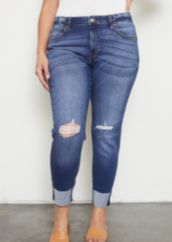 Red Door Mary's distressed cuffed jeans - KanCan