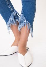Kancan Francesca's frayed hem jeans