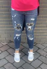 Red Door Lauren's leopard underlay jeans