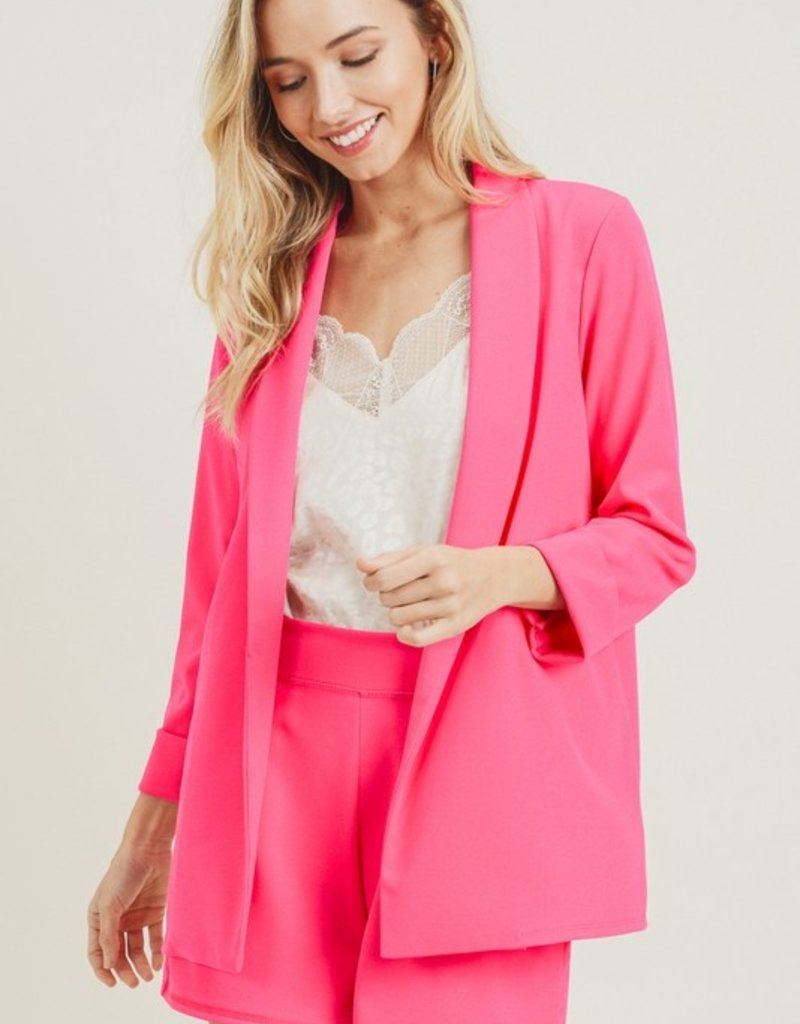 Red Door Hot pink blazer