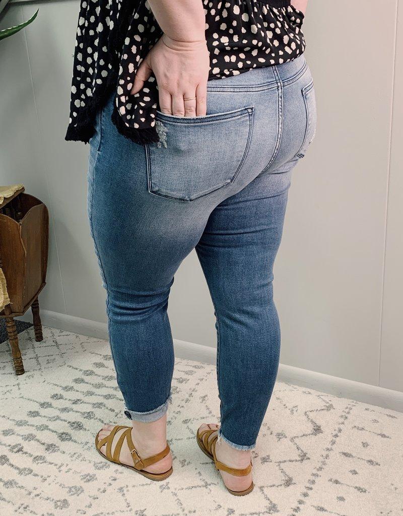 Red Door Sheila's destroyed hem jeans