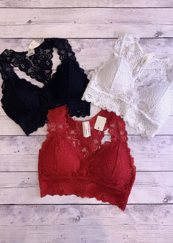 Red Door Curvy-Razorback padded bralette